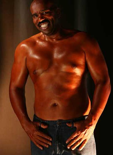 steve harvey shirtless